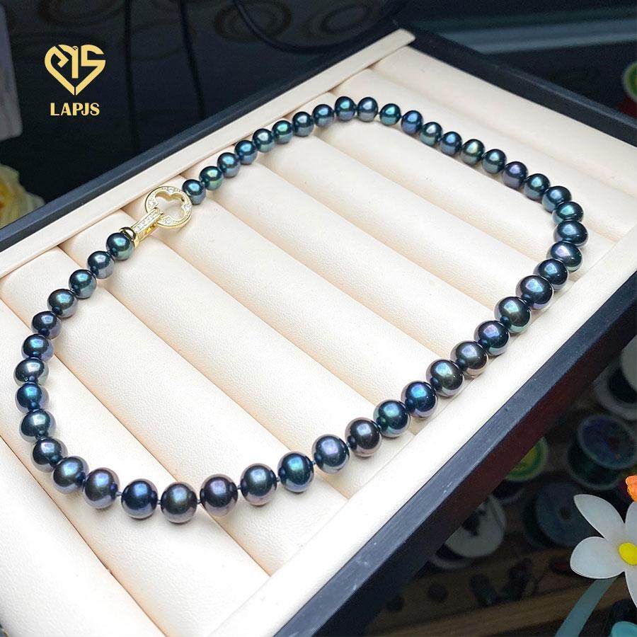 Vòng cổ Ngọc trai phối khoá đính đá cao cấp LNL2805