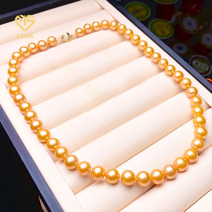 Vòng cổ Ngọc trai vàng kim phối khoá Vàng 18K LNL-2906