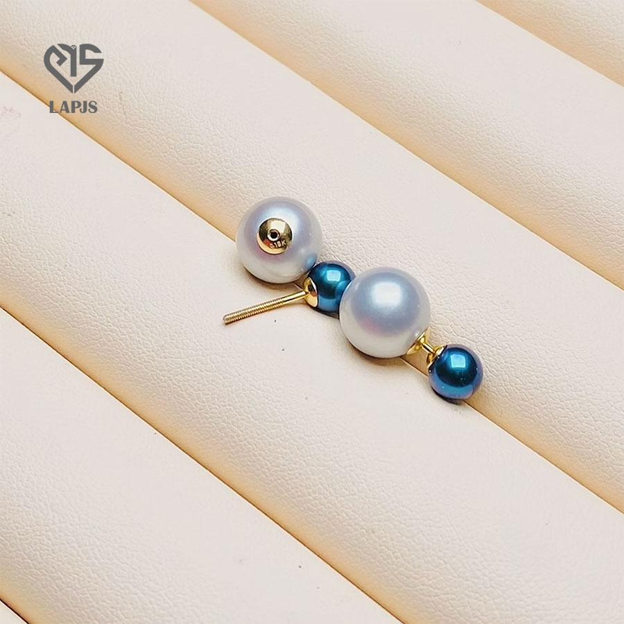 Bông tai Ngọc trai Vàng 18K Nhật Nguyệt Châu LER-65430