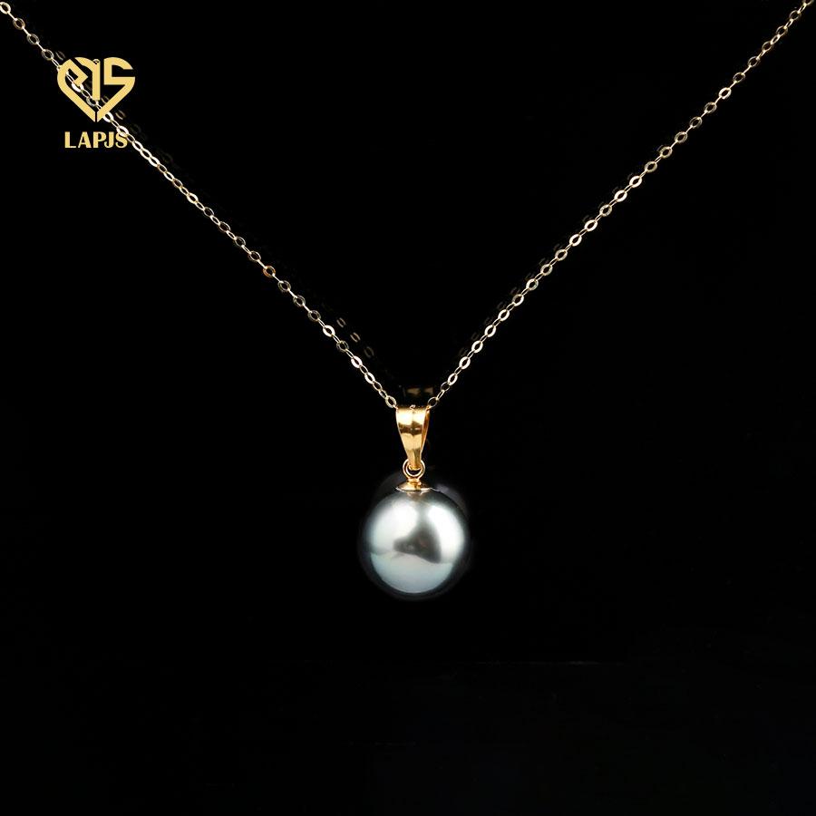 Mặt Dây Chuyền Khoen Gold Filled Phối Ngọc Trai Tahiti NPE17